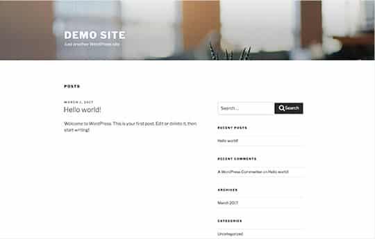 theme of our WordPress site